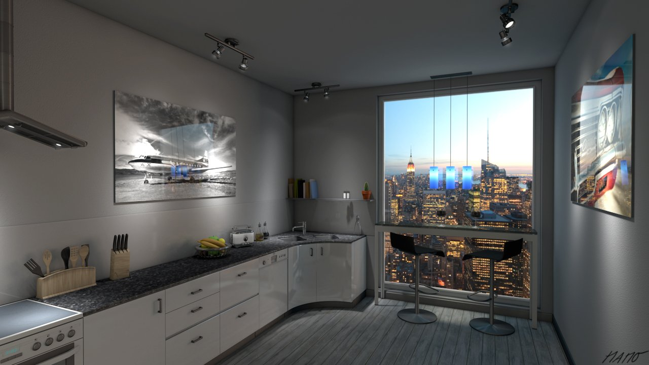 Rezension 3d visualisierung in cinema 4d architektur for Cinema 4d architektur